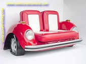 Volkswagen Car Sofa, Red