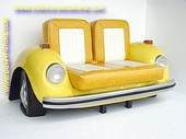 Volkswagen Car Sofa, Yellow