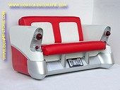 Chevrolet Car Sofa, Red