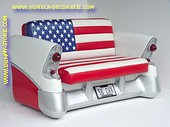 Chevrolet Car Sofa, American Flag