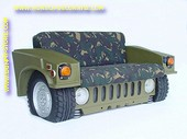 Hummer Car Sofa, Army design