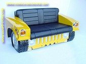 Hummer Car Sofa, Yellow