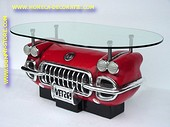 Corvette Centre Table with glass