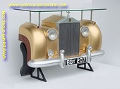Rolls Royce Car Bar, Gold