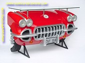 Corvette car Bar, red