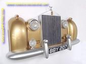 Rolls Royce wanddecoratie, goud