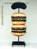 Double hamburger, 2,05 meter