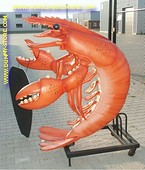 Lobster with chalkboard, h: 1,85 meter