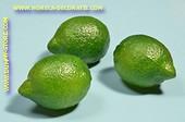 Limoen, 3 stuks - 6x8 cm - Fruitdummy