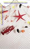 Fischnetz mit 13 Dekorationen