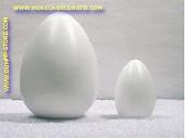 Eier, WEISS, höhe: 17 cm, 12 Stück - Attrappe