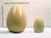 Egg, BROWN, H: 17 cm, 12 pcs.