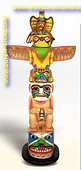 Totem Paal, H: 2,10 mtr, B: 0,90 mtr