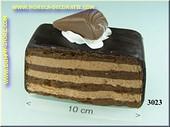 Chocolade punt met praline - dummy