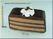 Chocolade punt met koffieboontjes - dummy