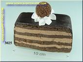 Chocolade punt met bonbon