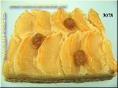 Appelkoek met krentjes - namaak
