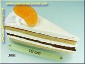 Taartpunt met sinaasappel
