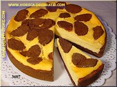 Grote cake met los stuk - namaak - dummy