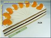 Taart mandarijn, halve - dummy
