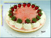Strawberry Cake 26x6 cm