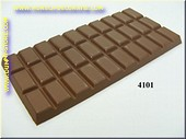 Chocolate tablet, brown