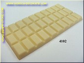 Chocolate tablet, white