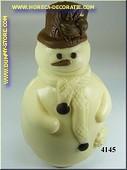 Chocolade sneeuwman, wit