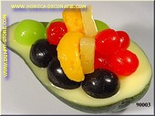 Avocado, halve, met fruit
