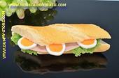Broodje Ham met garnituur - Attrappe
