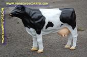 Koe, zwart-wit, LxHxB= 104x77x29 cm