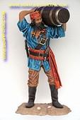 Chinese piraat met vat, hoogte:1,88 meter