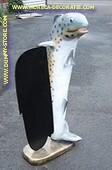 Makreel met krijtbord, hoogte: 1,40 meter