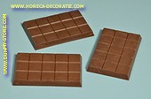 Chocolade tablet, puur, 3 stuks - 7x10 cm
