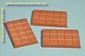 Chocolade tablet, melk, 3 stuks - 7x10 cm