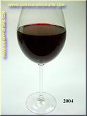 Glas Rode Wijn in glas met lange voet - Attrappe