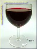 Glas Rode Wijn in glas met korte voet - dummy
