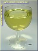 Glas Witte Wijn in glas met korte voet - dummy