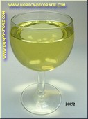 Glas Witte Wijn in glas met korte voet - namaak
