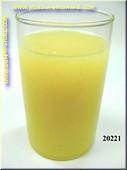 Glas Grapefruitsap - Attrappe