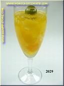 Glas Ananas sekt met olijf - namaak