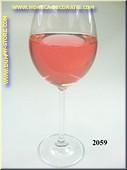 Glas Rosé wijn - namaak