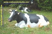 Liggende koe, Levensgroot