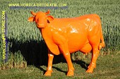Koe, Levensgroot - ORANJE