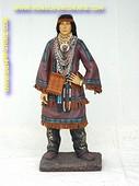 Indianen vrouw, hoogte: 1,03 meter