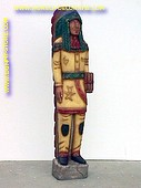 Staande indiaan, hoogte: 1,85 meter