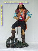 Pirate with barrel, h: 1,90 meter