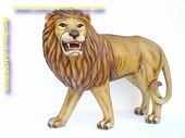 Leeuw grommend, L: 1,20, mtr, H: 1,15 mtr, B: 0,60 mtr