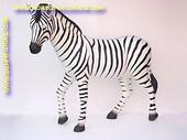 Zebra, hoogte: 1,67 mtr, lengte: 1,90 mtr