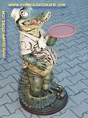 Krokodil butler, h: 0,97 meter